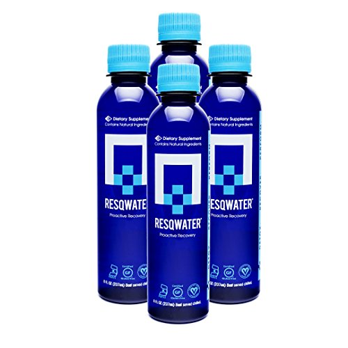 RESQWATER Proactive Recovery Dietary Supplement 8oz(4PK) Celebration & Exercise Recovery Drink, Liver Support & Electrolytes to help avoid feeling hungover or help recover & perform during exercise.