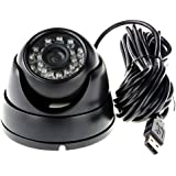 ELP 3.6mm 1080P Dome Camera with IR LED Night Vision HD Webcam