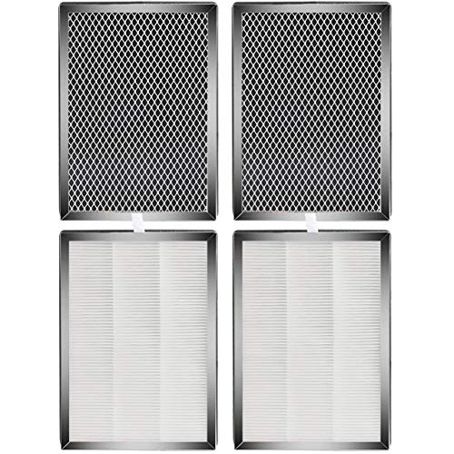 Fette Filter - MA-25 Air Purifier H13 True HEPA Filters Compatible with Medify MA-25Air Purifier with 3 in 1 Pre-Filter - Pack of 4