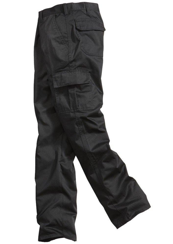 Lee Cooper Men's 205 Cargo Regular Trouser, Black (Negro), 34R LCPNT205