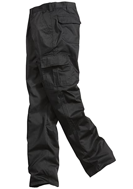 dc18432b Lee Cooper Workwear LCPNT205 Mens Work Safety Cargo Pants Trousers, Black,  Size 34 Regular
