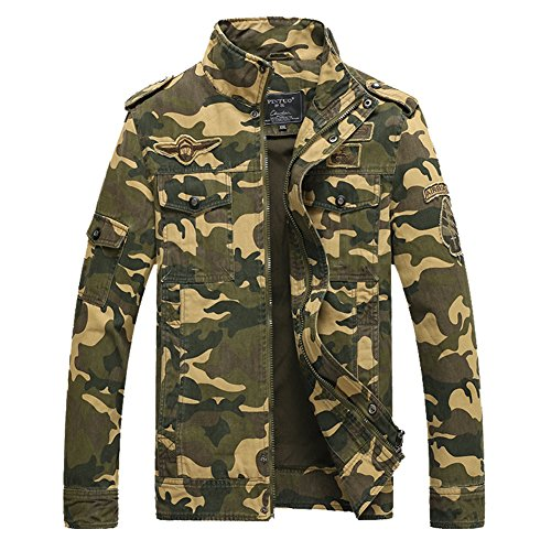 Lite Dual Vent (H.T.Niao Jacket8932C2 Men 's Military Wind Camouflage Fall Winter Collar Jackets(Khaki,Size M))