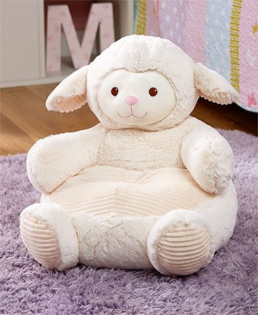 Kids' Plush Lamb Animal Chair