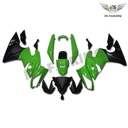 Amazon.com: NT FAIRING Green Black Fairing Fit for KAWASAKI ...