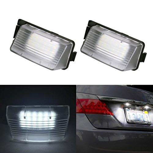 2Pcs Easy Install Car Led License Lamp Bar, YANF Error Free LED License Plate Light for Infiniti G25 G35 G37 Nissan Pulsar GTR Cube Sentra Leaf GTR (R35) 350Z 370Z