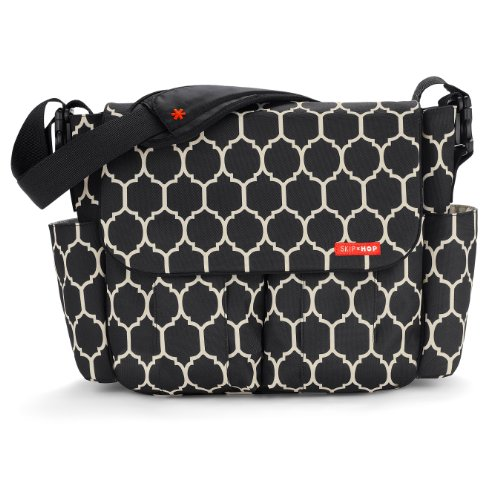 Skip Hop Dash Messenger Diaper Bag, Onyx Tile, Bags Central