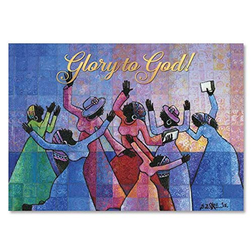 """Health & Personal Care : African American Expressions - Glory to God Boxed Christmas Cards (15 cards, 5"""" x 7"""") C-949"""
