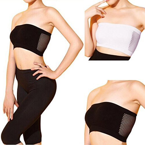 Lace Pantie - DICPOLIA Sexy Strapless Top Vest Breathable Sports Bras Bandeau Boob Tube for Women (Free Size, Black)