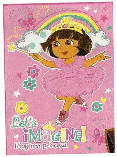 Dora the Explorer Ultra Soft Plush Throw Blanket Let's Imagine!