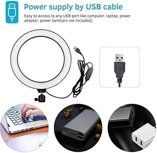 Praktische Helligkeit der einstellbaren F/ülllichtlampe der USB-Schnittstelle Kronleuchter