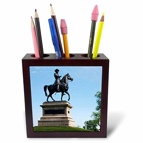 3dRose ph_94215_1 Pennsylvania, Gettysburg, Civil War Memorial US39 PSO0001 Paul Souders Tile Pen Holder, 5-Inch