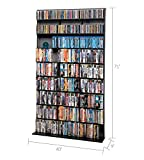 Atlantic Elite Media Storage Cabinet - Large Tower, Stores 837 CDs, 630 Blu-Rays, 531 DVDs, 624 PS3/PS4 Games or 528 wii Games with 9 Fixed Shelves, PN35435742 in Black