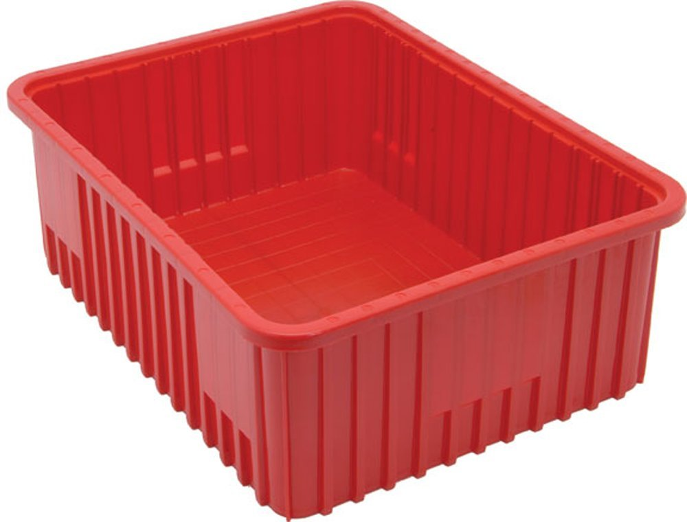 Quantum Storage Systems DG93080RD Dividable Grid Container 22-1/2-Inch Long by 17-1/2-Inch Wide by 8-Inch High, Red, 3-Pack