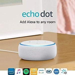 All-new Echo Dot (3rd Gen) – Smart speaker with Alexa - Sandstone Fabric