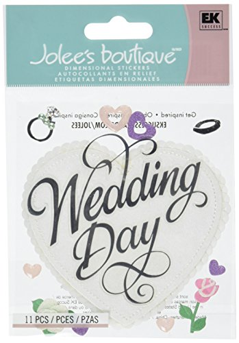 Jolee's Boutique Themed Ornate Stickers, Wedding Day