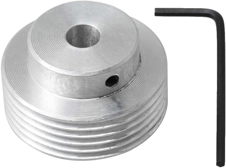 Yibuy Roue de courroie en aluminium 6 dents Diam/ètre ext/érieur 40 mm Diam/ètre ext/érieur 14 mm