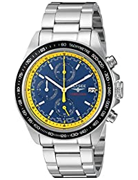 ELYSEE Men's 'Competition' Quartz Stainless Steel Casual Watch, Color:Silver-Toned (Model: 18012)