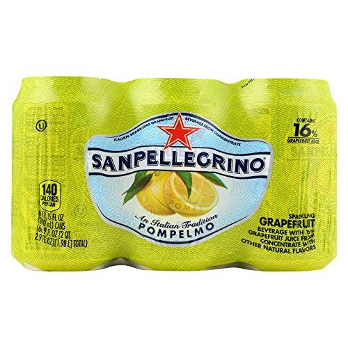 San Pellegrino Sparkling Water - Pompelmo Grapefruit - Case of 4 - 11.1 Fl oz. by San Pellegrino