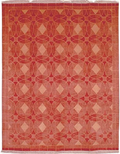 Safavieh Tibetan Collection TB281A Hand-Knotted Rust Wool Area Rug 4' x 6'