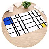 Show-Show-Fashion&Plaid Style Mats for The Front Door Welcome Door Mat Non-Slip Bath Mats Bathroom Absorbent Kitchen Rug Bedside Carpet,Jie 04,40 x 60 cm