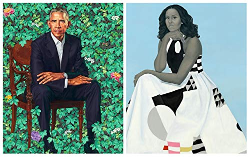 Hello Africa Laminated Official Portrait of President Obama and Michelle Obama Poster Print 18 X 12 Two in one Black History Month Custom Made Collectors Item