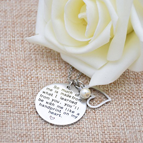 O.RIYA Graduation Gift, Teacher Necklace,Christmas Gifts for Teacher, Gift from Student, Teacher Gift, Personalized Teacher Jewelry by O.RIYA (Image #2)