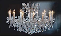 """Maria Theresa Chandelier Crystal Lighting Chandeliers Lights Fixture Pendant Ceiling Lamp for Dining room, Entryway, Living room H 21"""" X W 31"""""""
