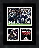 "Frames By Mail TP04-11-00-SB2017-5 Tom Brady Super Bowl Li (51) 2016New England Patriots Matted & Framed Photo Collage Triple,Black,11"" X 14"""