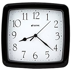 8.5-inch Quality Square Water Resistant Quartz Wall Clock Water Resistant Special for Small Space, Office, Boats, RV (W50508 Glossy Black)