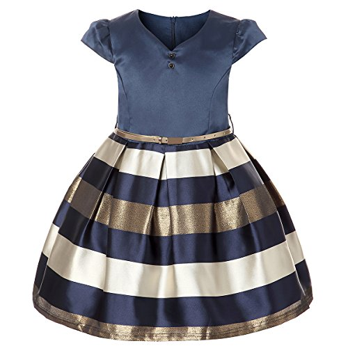 ZaH Kids Dress Kids Dresses Girls Dresses Baby Girls Gown Girls Beautiful Dresses Size 6 5-6 Graduation Dress Girls Puffy Dresses (Blue,6)