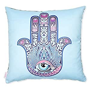 Alwan-Accessories Poly Cotton Multi Color 45 x 45 cm Cushion Cover for Good Luck - EE8280HBSP