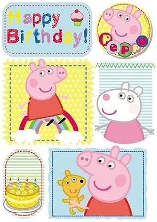 Amazon.com: Peppa Pig – Tarjeta de cumpleaños feliz ...
