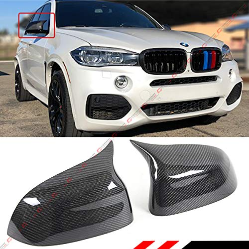 Cuztom Tuning Fits for 2014-2018 BMW F15 X5 F16 X6 X3 X4 Carbon Fiber Side Mirror Cover Caps Replacement- M Style ()