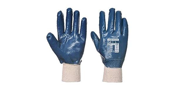 Portwest Nitrile Knitwrist - Guantes (talla XXL), color azul ...