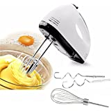 Hand Mixer For Kitchen & Dining , 180W Power Advantage Electric 7 Speed Handled Blender With Turbo Beater II Accessories And Pro Whisk , Lightweight Kitchenaid Mixer With Storage Case For Egg , Ice