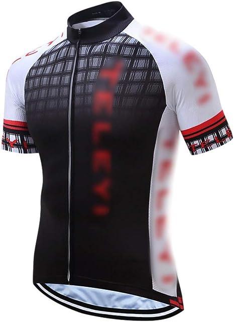 FELICILII Camisa de Manga Corta de Verano Chaqueta de Secado rápido Jersey Traje de Bicicleta de montaña Ropa de Bicicleta de montaña Regalos for Ciclistas Hombres Camisetas de Entrenamiento: Amazon.es: Deportes y