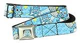 Fairy Tail Seatbelt Belt (Happy Poses/Fish Monogram)-Holds Pants Up