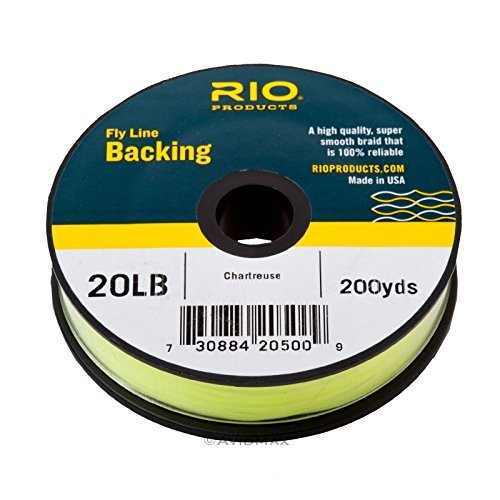 Rio Fly Fishing Backing Dacron 20Lb 200 yd. Fly Tying Equipment, Chartreuse ()