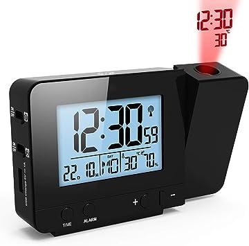 Amazon.com: GuDoQi Reloj despertador digital LED con puerto ...