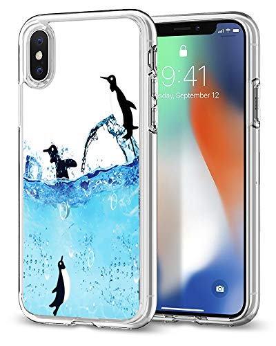 - Penguins Case for iPhone XR,Gifun Anti-Slide Clear TPU Premium Flexible Protective Case Cover for iPhone XR 2018 - Penguins Roaming The ICY Waters