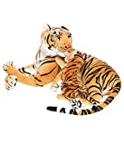 Deals India Mother Baby Brown Tiger - 42 cm