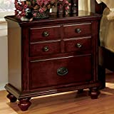 Furniture of America CM7083N Gabrielle Ii Cherry Nightstand
