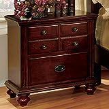 Furniture of America CM7083N Gabrielle Ii Cherry Nightstand