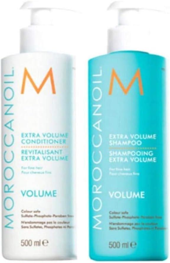 Moroccanoil Extra Volume, Champú y Acondicionador, Pack de 2 X 500 ml: Amazon.es: Belleza