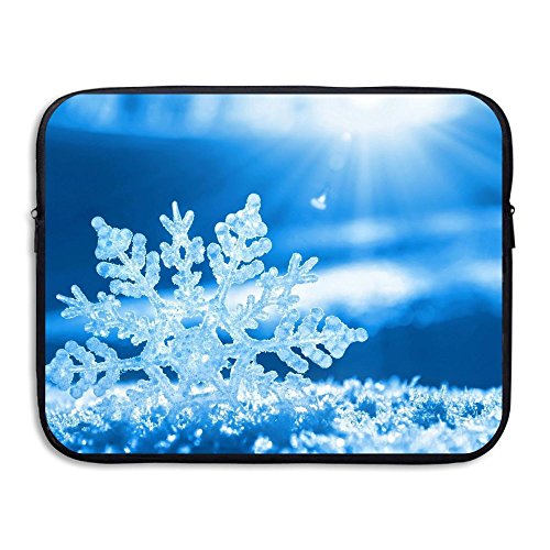 Laptop Sleeve Case Protective Bag Snow Flake Merry Christmas Printed Ultrabook Briefcase Sleeve Bags Cover For 15 Inch Macbook Pro/Notebook/Acer/Asus/Lenovo - Png Vector Woman