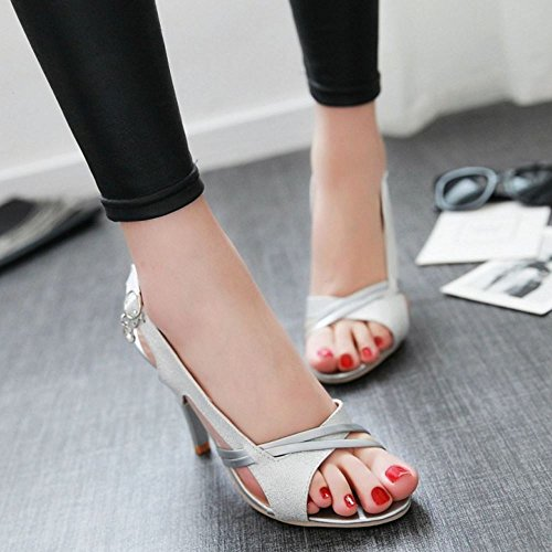 Mode Donne Sandali Silver Slingback Melady qXpZ5Hw5
