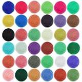 Quwei 36PCS Colors Felting Wool Fibre -Wool Yarn Roving for Needle Felting-Hand Spinnin DIY Needle Craft Hand wool Weaving …