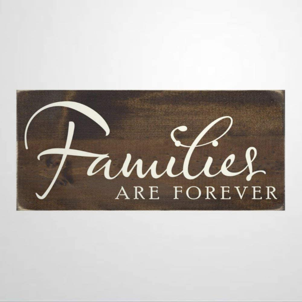 BYRON HOYLE Families are Forever Wood Sign,Wooden Wall Hanging Art,Inspirational Farmhouse Wall Plaque,Rustic Home Decor for Living Room,Nursery,Bedroom,Porch,Gallery Wall