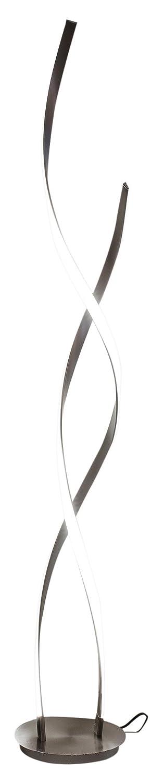 Febland LED Double Twist Tall Lamp, Steel, Silver LB45