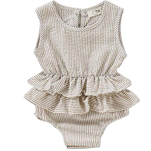 - RUIVE Newborn Bodysuit Ruffle Infant Baby Girl Sleeveless Solid Romper Summer Patchwork Jumpsuit One Piece Clothes Outfits
